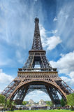 Eiffel Tower. View of Eiffel Tower (Paris royalty free stock photos