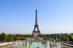Eiffel tower. In Paris in daylight Royalty Free Stock Photo