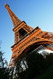 The Eiffel Tower. In sunset, Paris, France Royalty Free Stock Photography