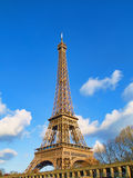 Eiffel Tower. View from Seine river, Paris stock photos