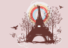Eiffel tower. Illustration of the Eiffel tower Royalty Free Stock Photos