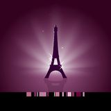 Eiffel tower. Festive background with glowing Eiffel tower Royalty Free Stock Photography