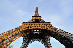 Eiffel tower. Before sunset time at Paris stock photos