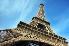 Eiffel Tower. Highly dynamic image of Paris´ most popular sight Stock Photography