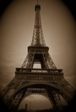 Eiffel Tower. In sepia tone Royalty Free Stock Image
