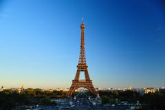 Eiffel Tower. A shot with the famous Eiffel Tower in Paris taken from Trocadero location Stock Images