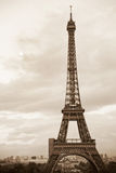 Eiffel tower. View of sepia toned Eiffel tower in Paris, France Stock Images