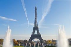 Eiffel tower. Paris blue sky royalty free stock photography
