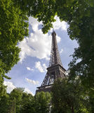 Eiffel tower. From park in Paris Royalty Free Stock Image