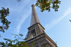 Eiffel tower. With blue sky in background Stock Photo