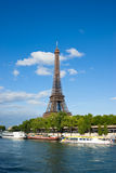 Eiffel Tower. Vertical view of the Eiffel Tower in Paris, France Royalty Free Stock Image