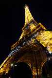 Eiffel tower. At night, Paris Stock Image