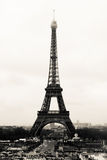 Eiffel tower. In Paris in the morning Stock Photography