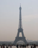 Eiffel Tower. Paris, France, with tourists in front Royalty Free Stock Images