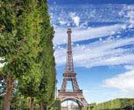 The Eiffel tower. Royalty Free Stock Images