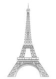 Eiffel tower. Famous eiffel tower, situated in Paris, France Royalty Free Stock Photos