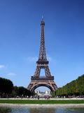 Eiffel Tower. Beautiful image of the Eiffel Tower on a clear summer day in Paris, France Stock Photo