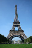 Eiffel Tower. Beautiful image of the Eiffel Tower on a clear summer day in Paris, France Stock Photography