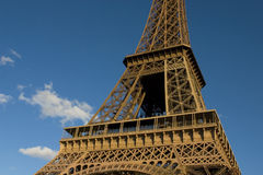The Eiffel Tower. In Paris Royalty Free Stock Photography