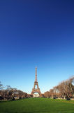 Eiffel Tower. In Paris France on a beautiful sunny day Stock Photo