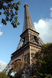 Eiffel Tower. A Sunny Day in Paris Stock Photography