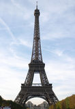 The Eiffel tower. On the background of blue sky Stock Photo