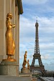 The Eiffel tower. As seen from the Trocadero square - Paris, France royalty free stock images