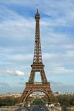 The Eiffel tower. As seen from the Trocadero square - Paris, France stock photo