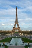 The Eiffel tower. As seen from the Trocadero square - Paris, France royalty free stock photo