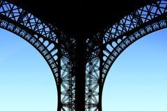 Eiffel Tower. Original angle. Evening Stock Image