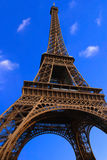 Eiffel tower. Paris - on blue sky background Royalty Free Stock Images