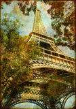Eiffel tower. Atistic toned picture in retro style Stock Photos