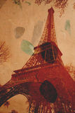 Eiffel tower. The Eiffel tower on a grungy background Royalty Free Stock Image