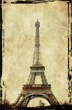 Eiffel tower. On grunge background Royalty Free Stock Photography
