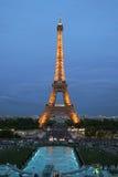 Eiffel Tower. Eiffel Tower at twilight with night illumination turned on Royalty Free Stock Photo