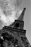 Eiffel Tower. Black and white image of the Eiffel Tower, Paris Stock Photography