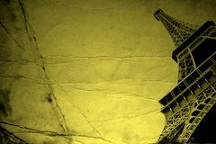Eiffel tower. Down view of Eiffel tower on a paper background Stock Photo