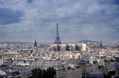 Eiffel tower. Aerial view,Paris,France stock photography