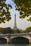 Eiffel Tower Above the Seine, Paris Royalty Free Stock Photography