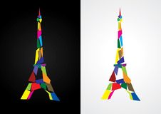 Eiffel tower abstract. Paris, France Royalty Free Stock Images