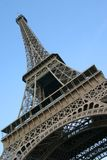 Eiffel Tower Abstract. Abstract view from the base of the Eiffel Tower in Paris, France stock photos