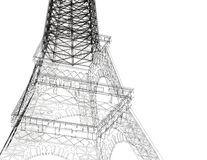 Eiffel tower abstract sketch Royalty Free Stock Photo