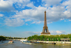 Eiffel tower across the Seine Stock Photography