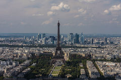 Eiffel Tower aerial view Stock Photography