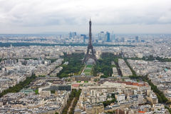 Eiffel Tower aerial view. A view of the Eiffel tower from the top of the Montparnasse skyscraper Royalty Free Stock Images