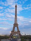 Eiffel tower in afternoon, Par. Eiffel tower of Paris. It was constructed by engineer Gustave Eiffel in 1889 and stands 300 m (986 ft) high. The tower is a Stock Images