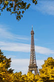 Eiffel Tower against the blue Stock Photography