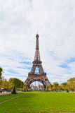 Eiffel Tower against the blue sky Stock Image