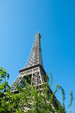 Eiffel Tower against a Blue Sky II Stock Image