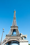 Eiffel Tower against a Blue Sky IV Stock Photography